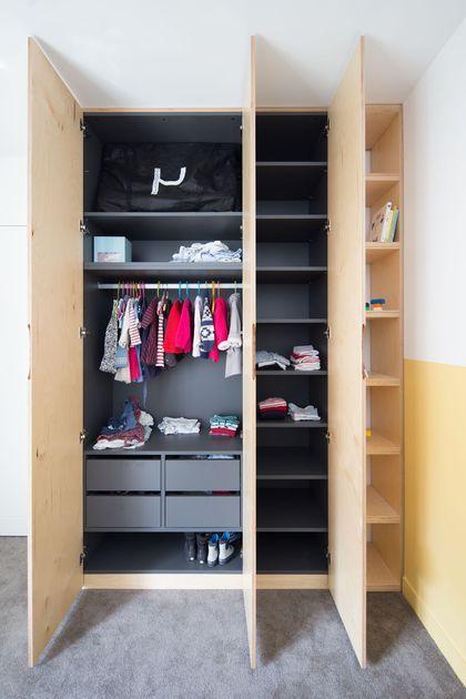 Maison boulogne billancourt 120 m2 avec verri re pour une famille armoir bedroom wardrobe - Agencement chambre enfant ...