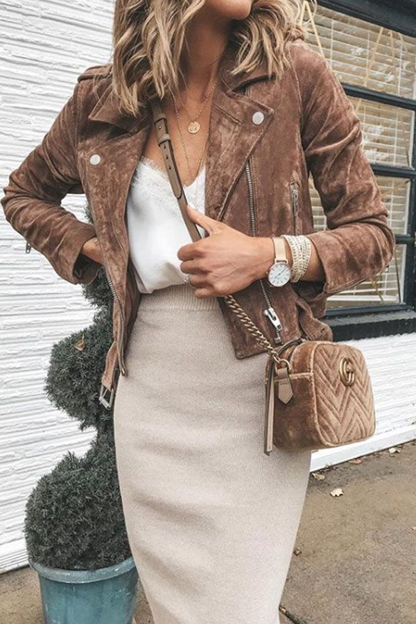 beautiful autumn outfit - brown and beige #fallbeauty