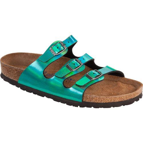 c3f5f171b44f Birkenstock - Florida Sandal - Soft Footbed - Mirror Green