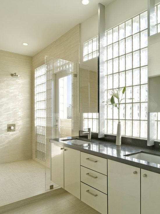 Glass Block As Bathroom Windows