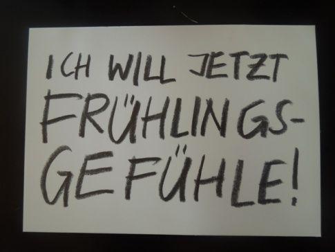 Frühlingsgefühle - spring fever   Sprüche, Wörter ...