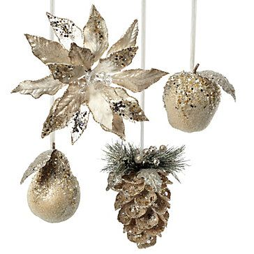 Beaded Ornaments Holiday Decor Holiday Gifts Z Gallerie Christmas Ornaments Beaded Ornaments Metallic Christmas