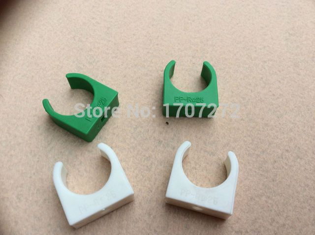 free shipping 10pcs 25mm Plastic PPR Single U Clamp Holder Hot Cold