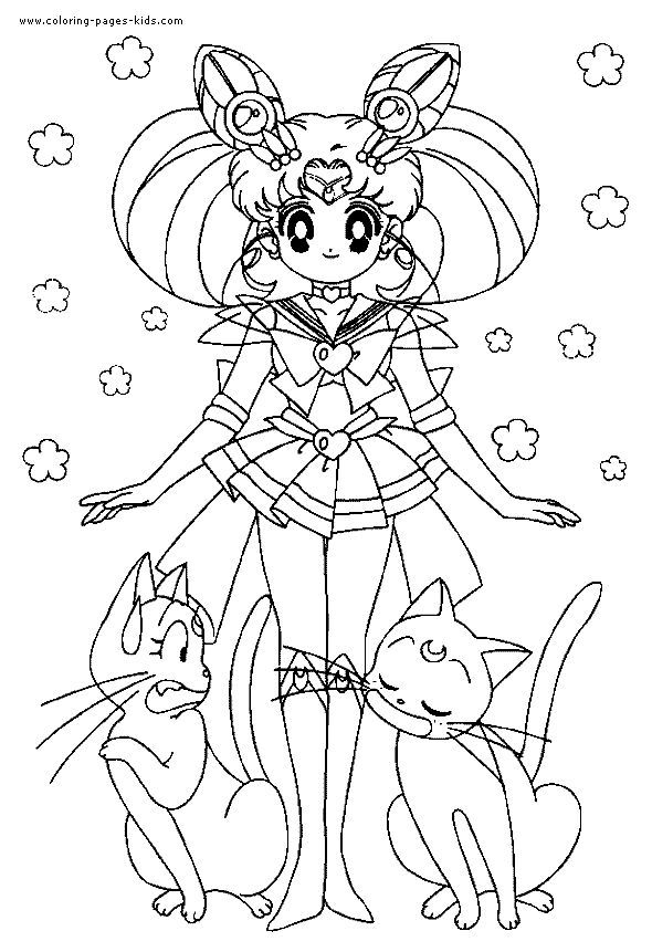 Free Printable Sailor Moon Coloring Pages For Kids | 861x590