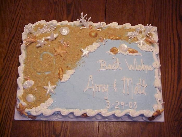 bridal shower cake beach and sand u2013 dream cakes by denise