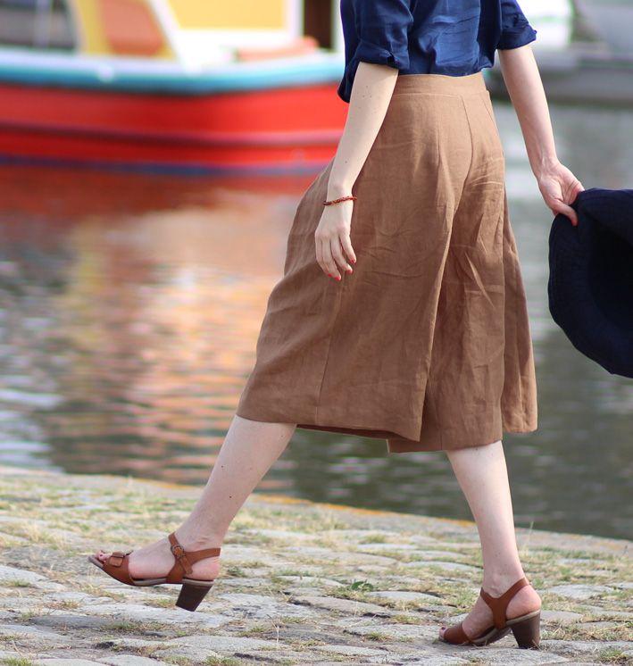 Patron de couture de jupe-culotte à plis Muscade pdf à télécharger de  Christelle Beneytout culotte pattern à coudre à la machine à coudre  Christelle Coud a61e5ccb2f7