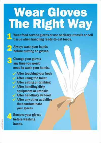 Wear Gloves The Right Way Work In 2019 Food Safety