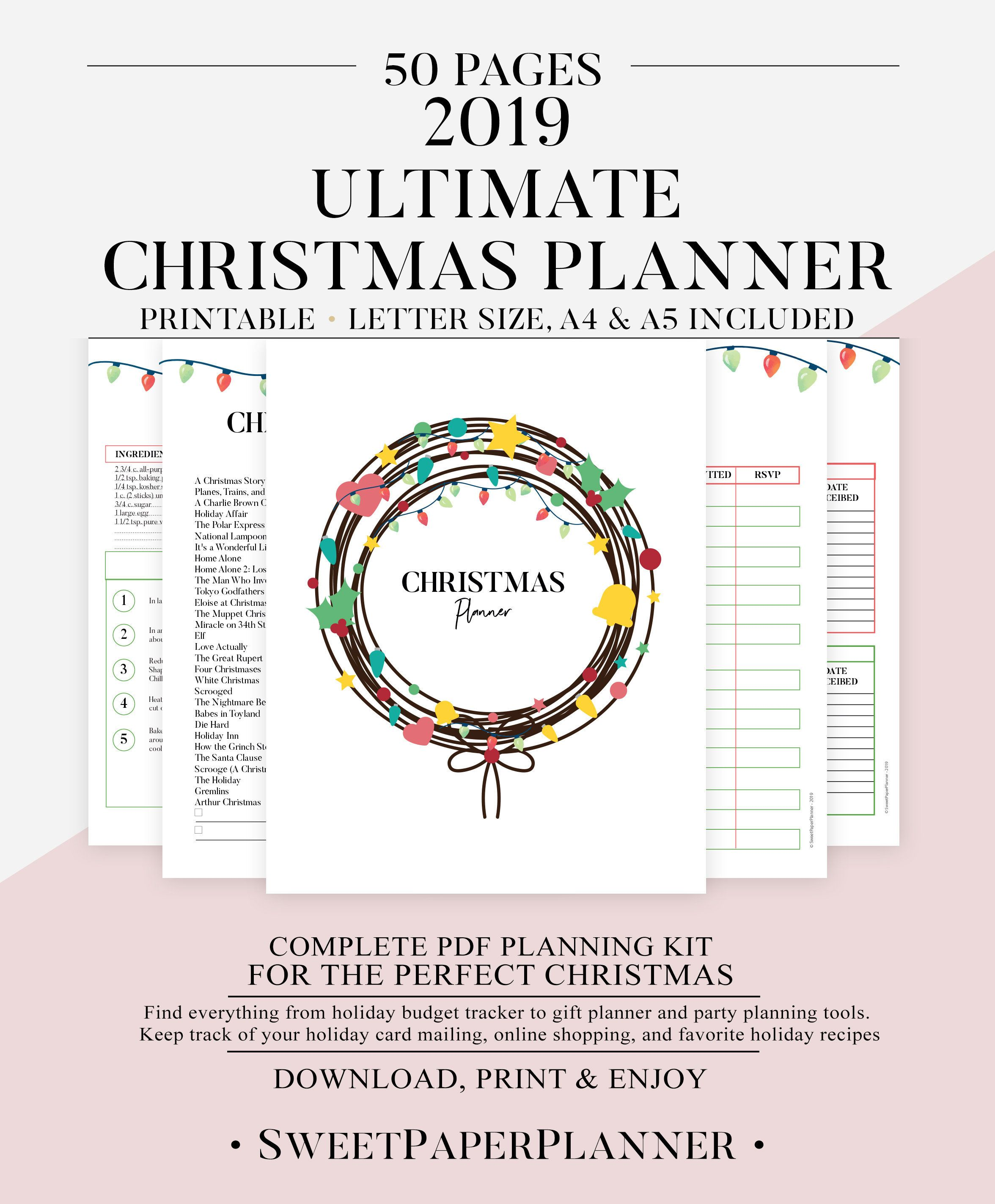 Printable Christmas Planner Christmas Planning