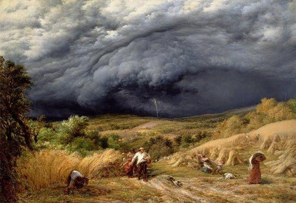 Storm in Harvest - John Linnell