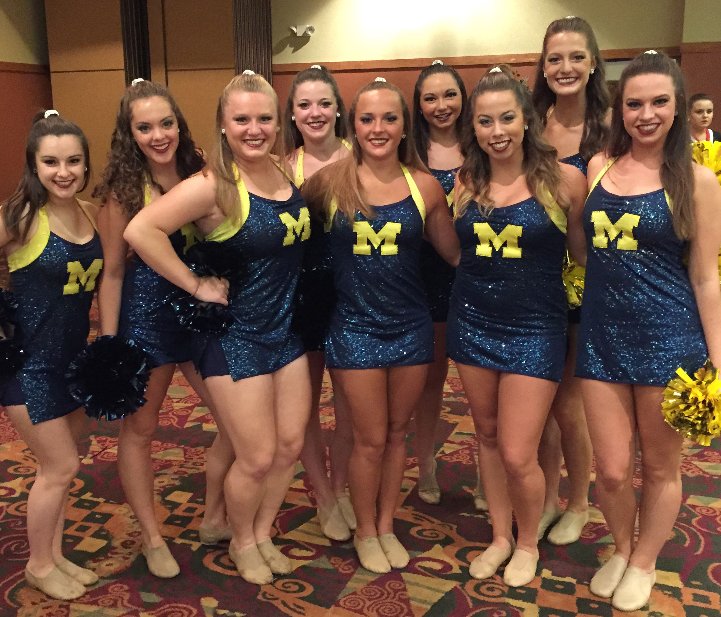 University of michigan dance team game day uniform by the for College dance team shirts