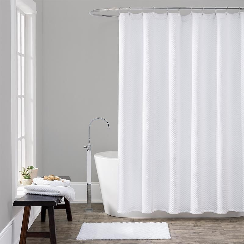 Lamont Home Chevron White Shower Curtain In 2019 Shower Curtain