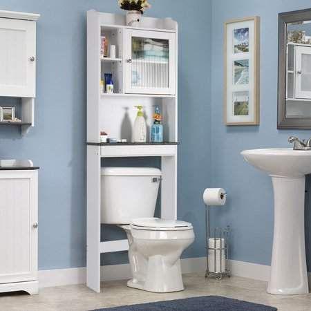 Apontus Space Saver White Over The Toilet Cabinet Bathroom Space Saver Over The Toilet Cabinet Bathroom Storage Cabinet