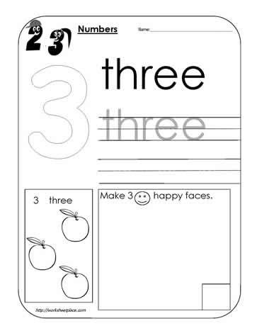 Number 3 Worksheet Letter Worksheets For Preschool Preschool Worksheets Printable Alphabet Worksheets Printable number worksheet preschool