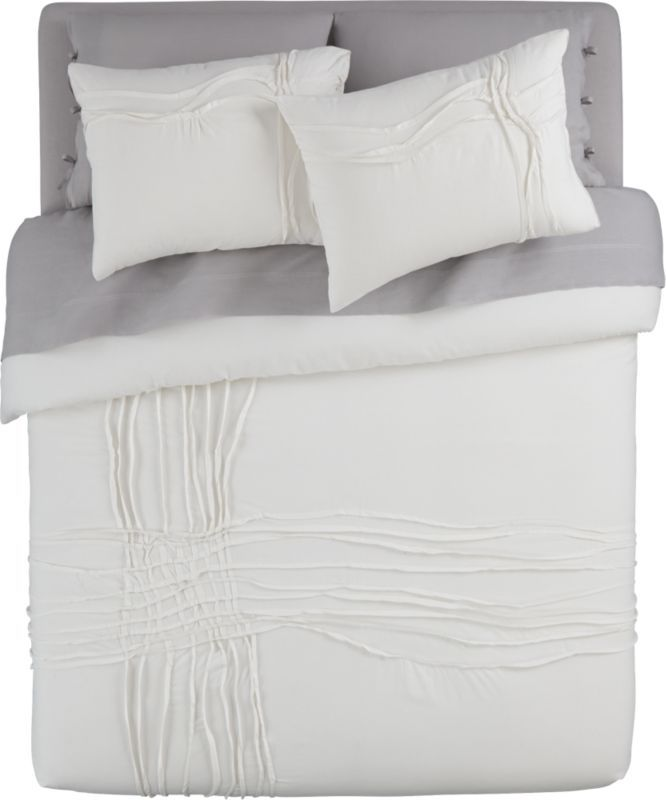 Twisted White Bed Linens White Linen Bedding White Bedding Bed Linen Sets