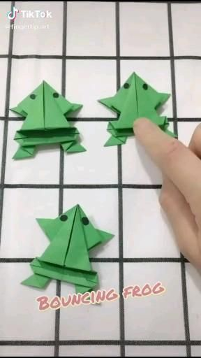 Photo of DIY Origami video Green frog