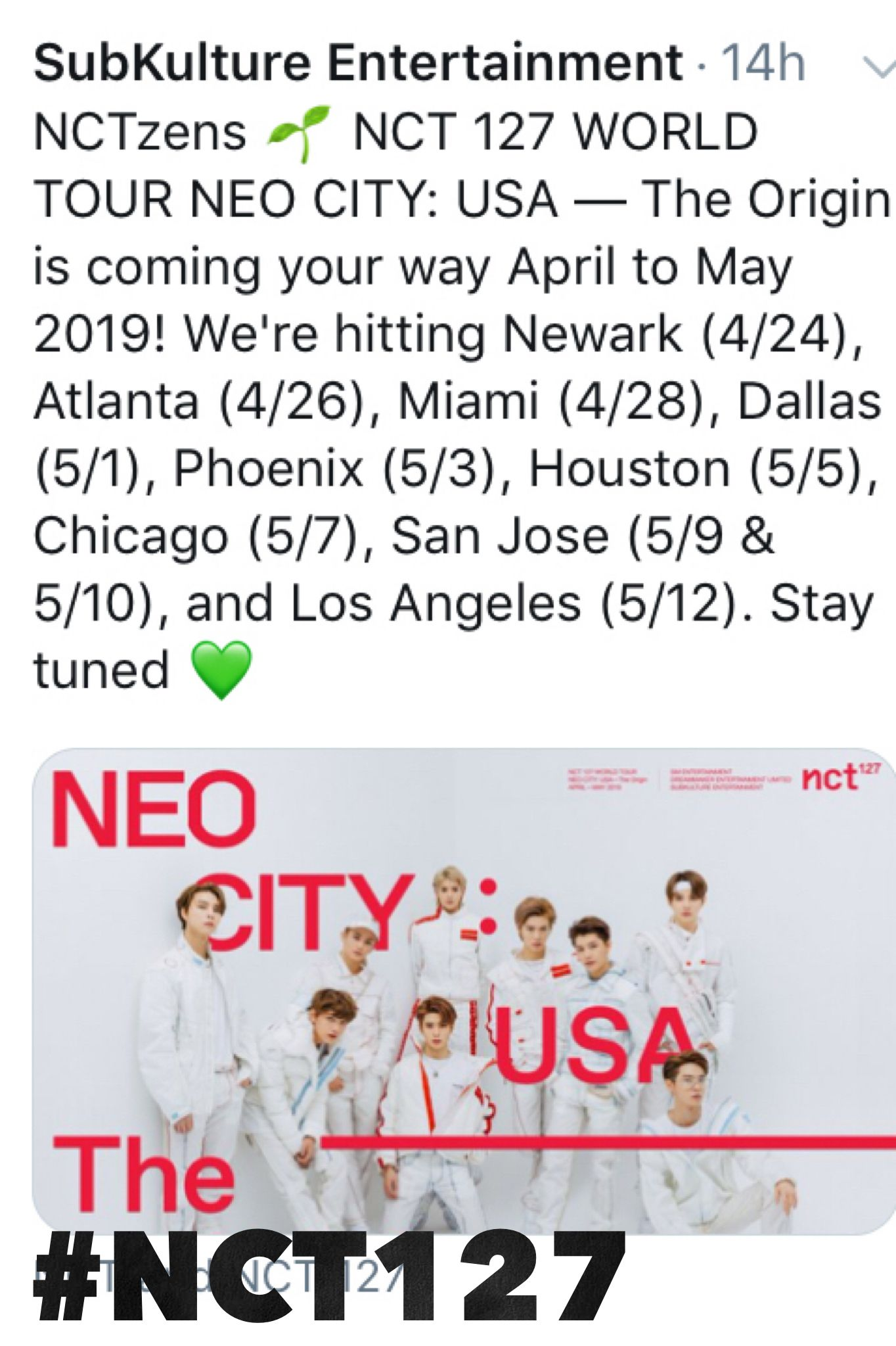 👋 #nctzens Here are your #nct127_1sttour dates! - 👀#kpop concerts