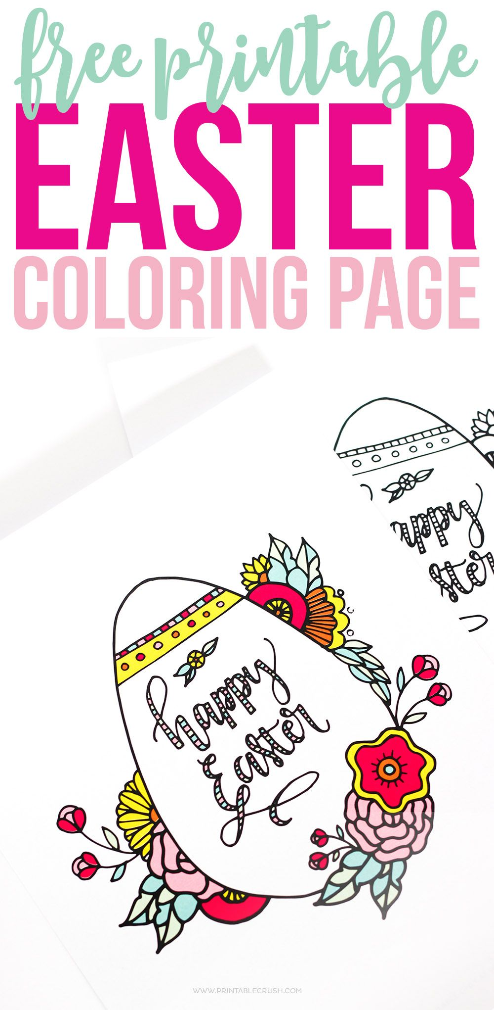 Easter Coloring Pages - FREE Printable Kids Love! | Easy Recipes and ...
