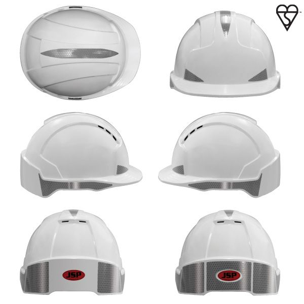 Jsp Evo Lite Cr2 Reflective Decal Pack Of 10 Hard Hats Head Protection Reflective Decals