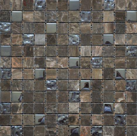 Varying Shades Of Brown Marble Mosaic Tiles Bathroom Tile Designs Brown Bathroom Brown Tile Bathroom