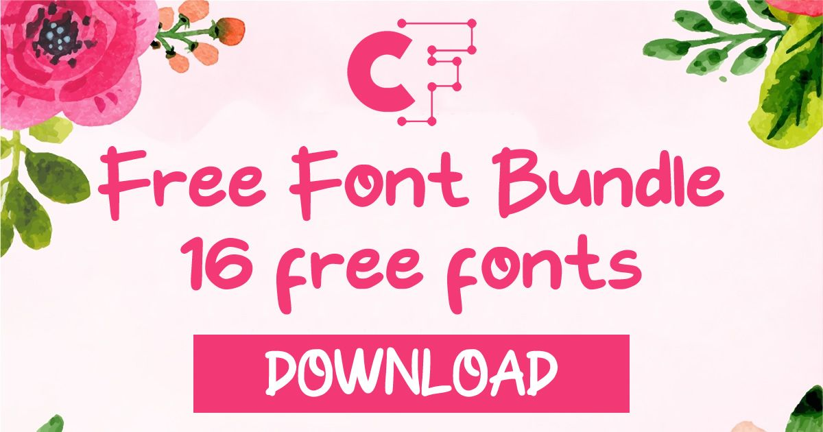 Download Free Font Bundle 2019 Vol. 1 (Bundle   Free font, Font ...