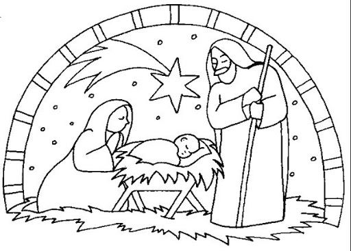 Nativity Scene Christmas Coloring Pages Nativity Coloring
