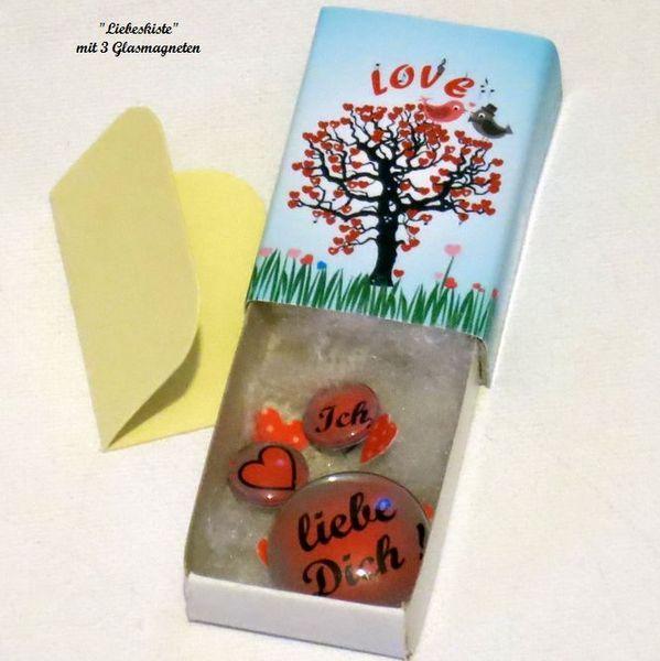 Liebeskiste - Ich liebe Dich ! Magnete - Schachtel von ღKreawusel-Designღ auf DaWanda.com