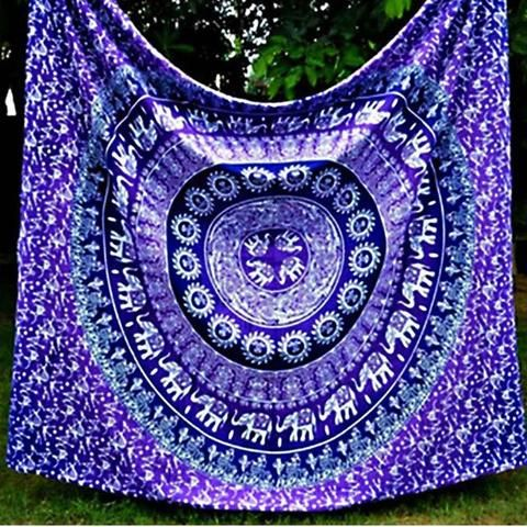 Mandala Hippie Bohomeian Wall Tapestry Decor Beach Cover - 21 Different Styles