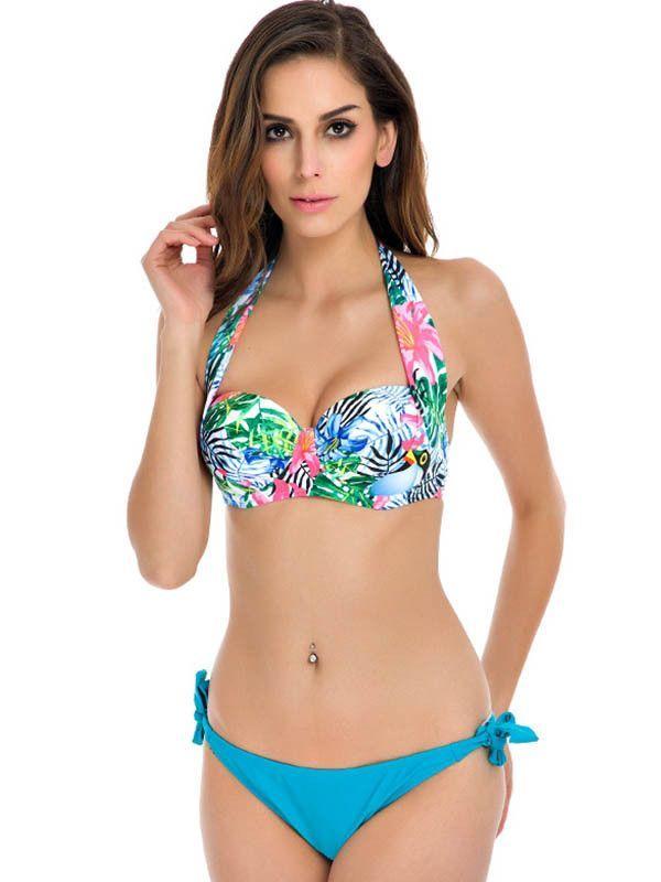 96229ed5162bc Available in Large Sizes NAKIAEOI New Sexy Bikinis Women Swimsuit Push Up  Bikini Set Bathing Suits Halter Beach Wear Plus Size Swimwear XXL