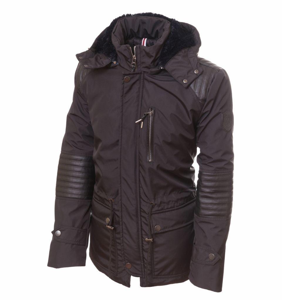 черная куртка и снуд