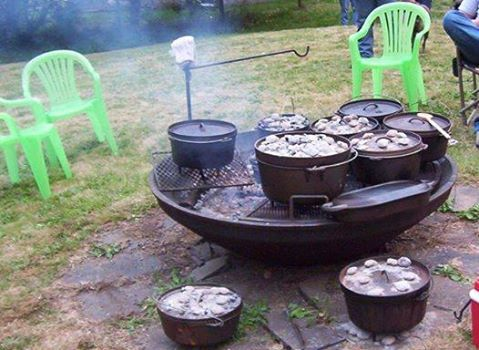 Fire Pit For Dutch Ovens Oven Cooking Dutch Oven Campfire Cooking