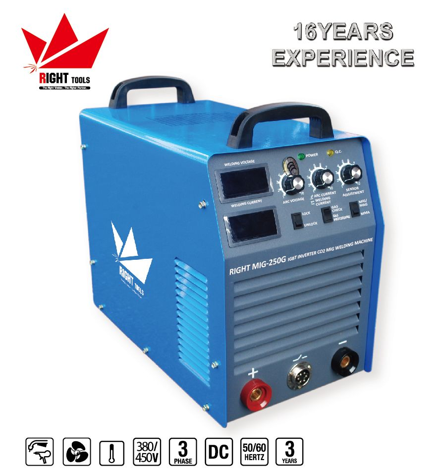 seperate wire feeder 250amp IGBT inverter co2 mig stud welding ...