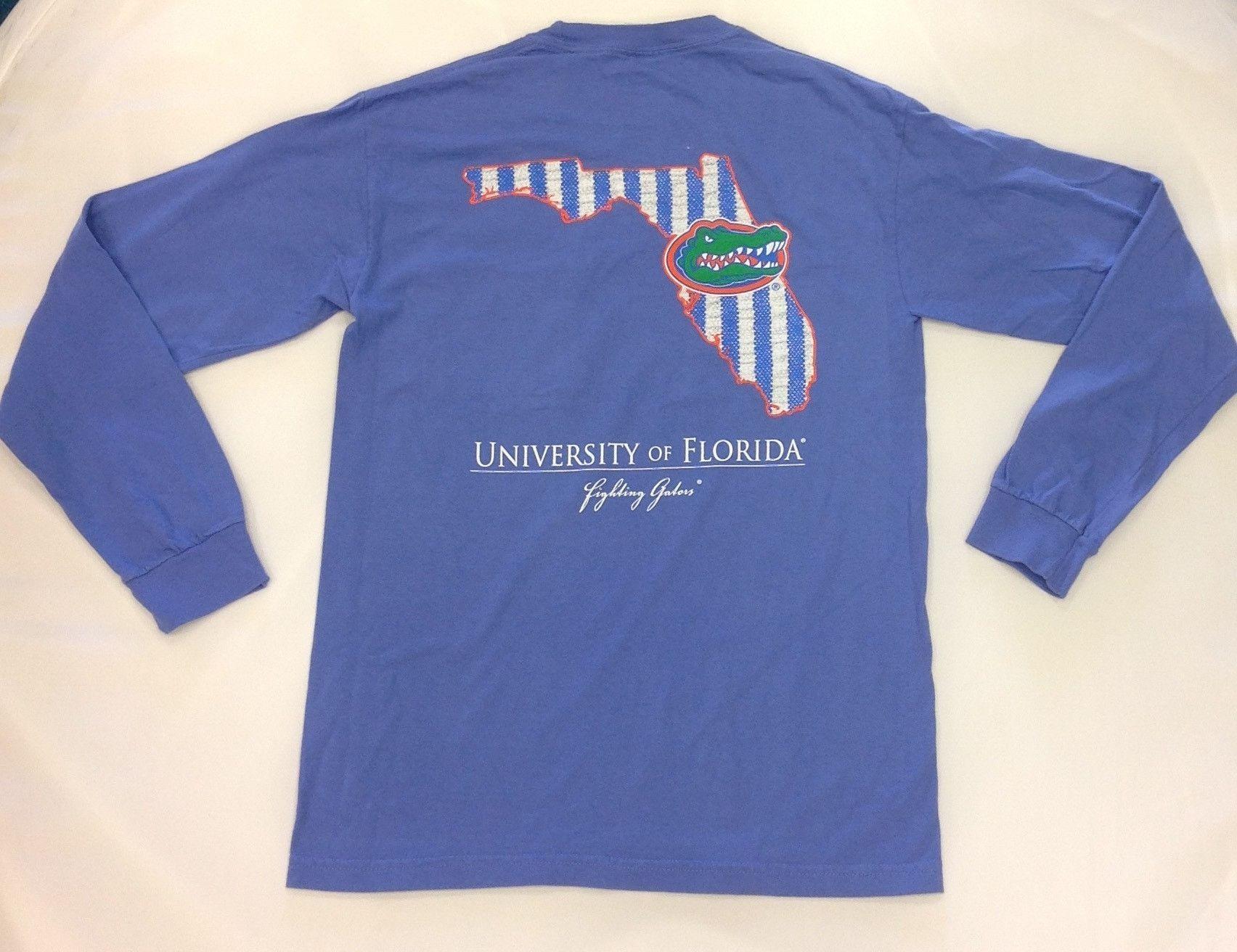 Ncaa Florida Gators Comfort Colors Front Chest Pocket Long Sleeve T Shirt Florida Gators College Shirts Long Sleeve