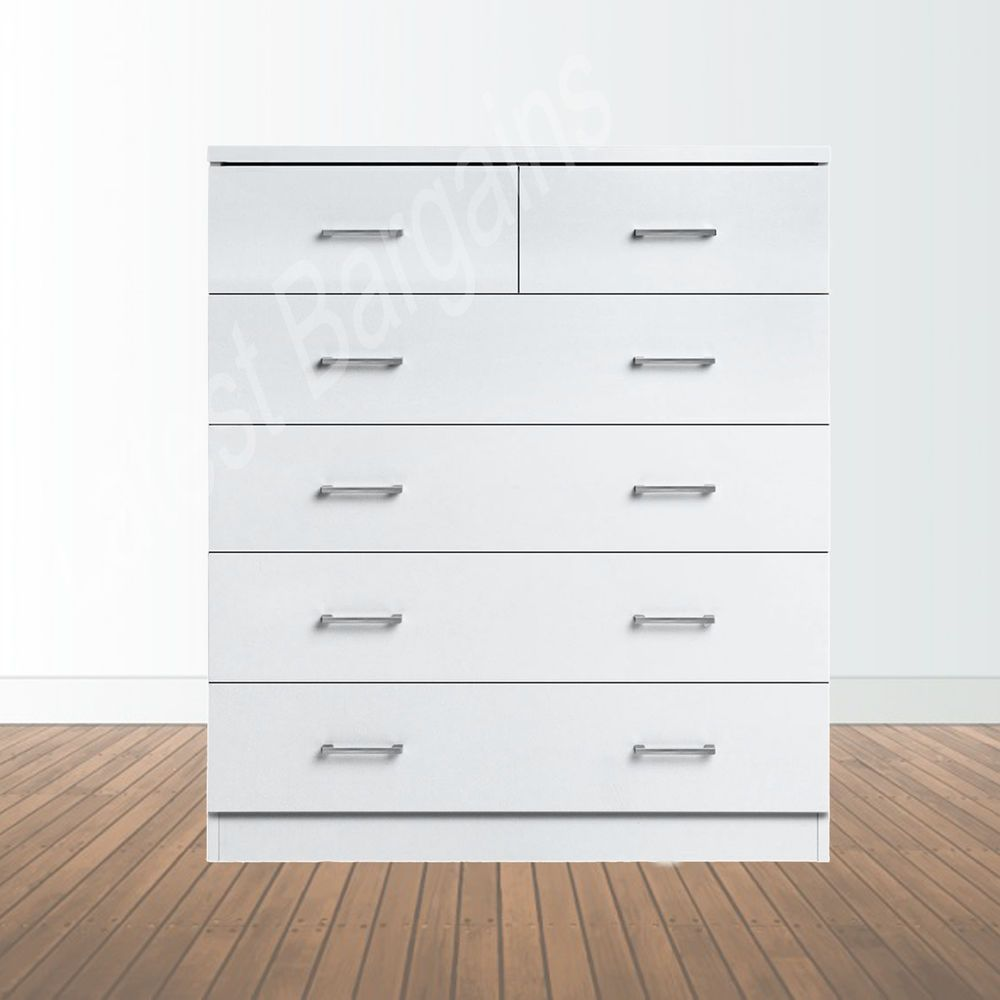 Tallboy Chest Of 6 Drawers Dresser Clothes Storage Cabinet Bedroom White New Clothes Cabinet Bedroom Cheap Bathroom Storage Storage Solutions Bedroom