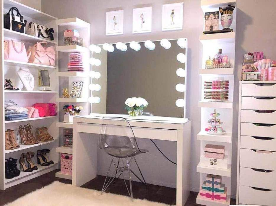 28 Diy Simple Makeup Room Ideas Organizer Storage And Decorating Glam Room Vanity Room Beauty Room