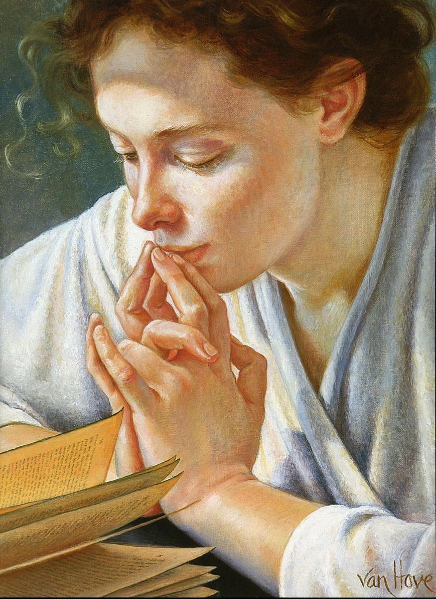 Zhivopis Francine Van Hove Reading Art Woman Reading Art