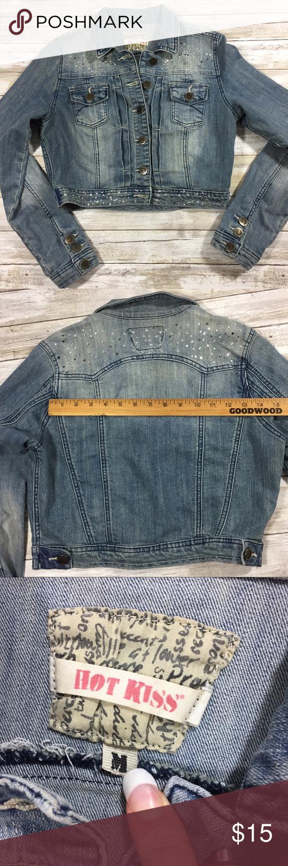 Hot Kiss Jean Jacket Faded Denim Cropped Faded Denim Hot Kiss Jean Jacket [ 1740 x 580 Pixel ]