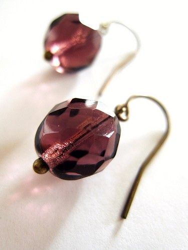 Luminous Fire Polished Earrings on Vintage by WildPoppyShoppe
