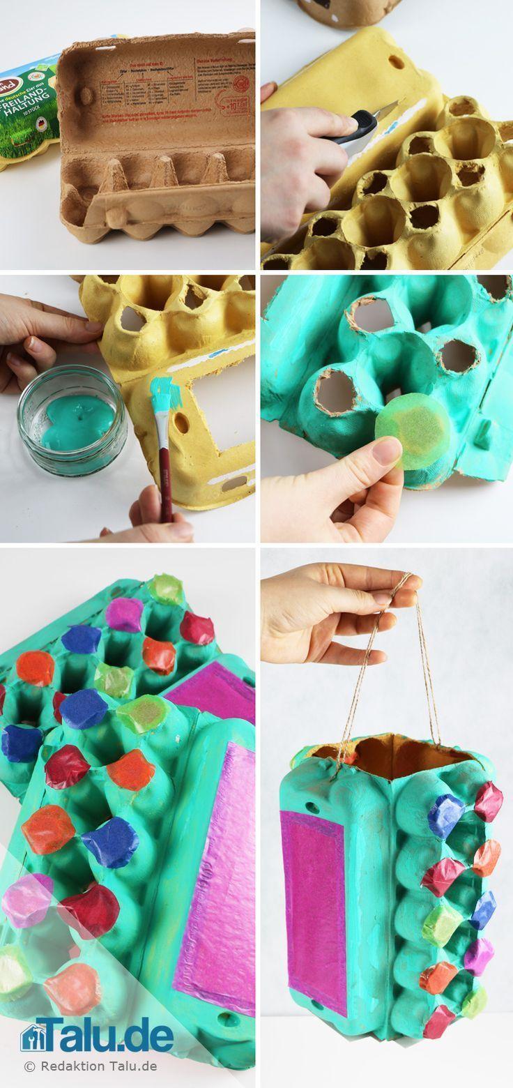 Basteln mit Eierkarton - tolle Ideen aus alten Eierpappen #laternebastelnkinder