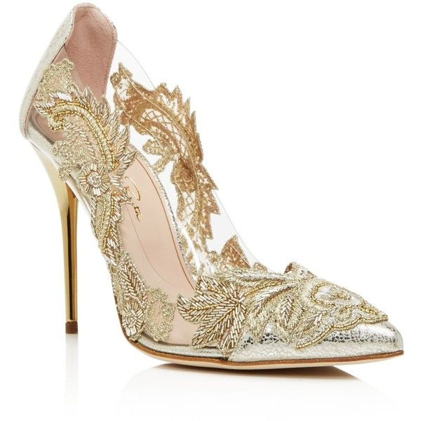 Oscar de la Renta Embellished Pointed-Toe Pumps cheap sale for sale how much for sale visit Cheapest cheap price countdown package online kMHGh