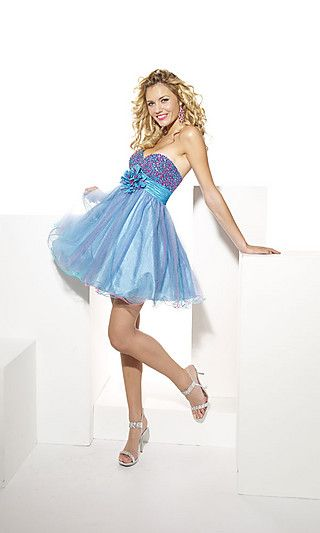 Store: Simply Dresses  Article: Dress  Specific Type: Beaded Baby Doll Prom Dress by Hannah S  Price: On Sale = $99.00 Not = $190.00  Comments: It's so cute and spiffy, this would be great to be out on the dance floor in!