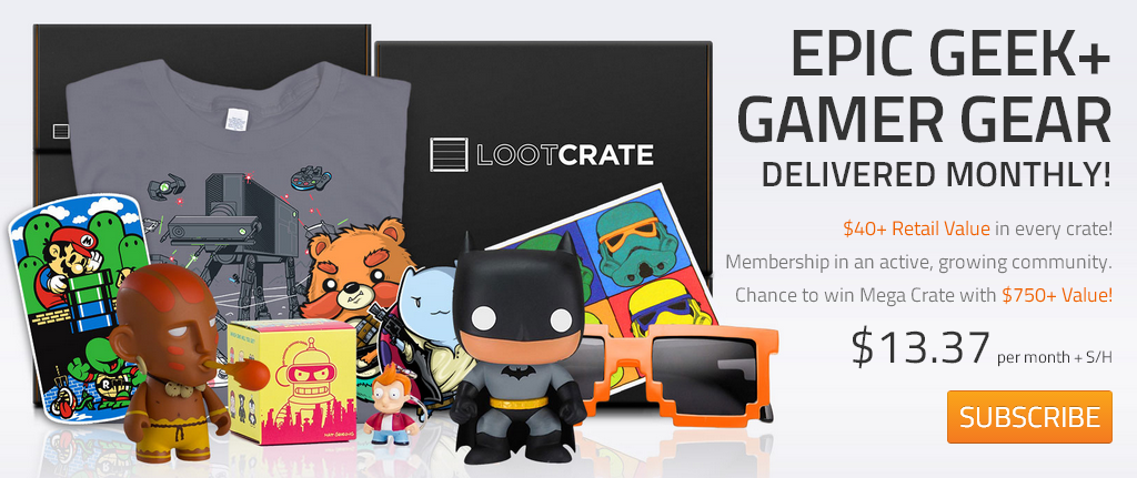 Mother S And Father S Day Gift Idea Loot Crate A Monthly Geek And Gaming Subscription Service Review And Giveaway Loot Crate Geek Games Geek Stuff