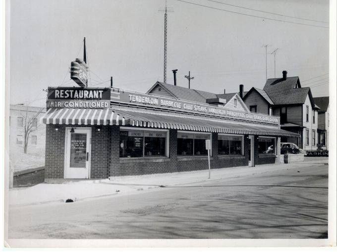 Goffs Restaurant Walnut Wysor Muncie Indiana 1953 Once Upon