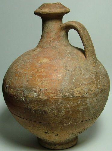 Rare Original Ancient Roman Jug Vase Pottery Vessel Kylix Pyxis