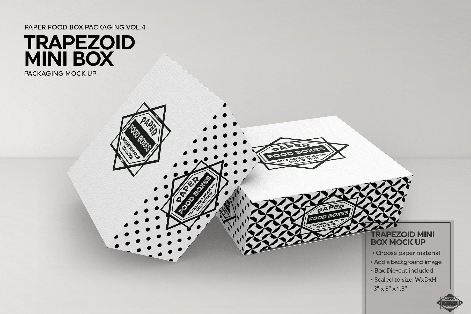Download Trapezoid Mini Boxes Mockup Box Mockup Free Packaging Mockup Packaging Mockup