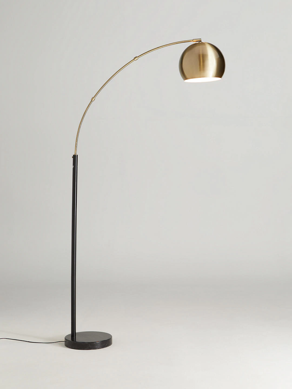 John Lewis Partners Hector Floor Lamp Antique Brass Black Brass Floor Lamps Living Room Floor Lamp Brass Floor Lamp