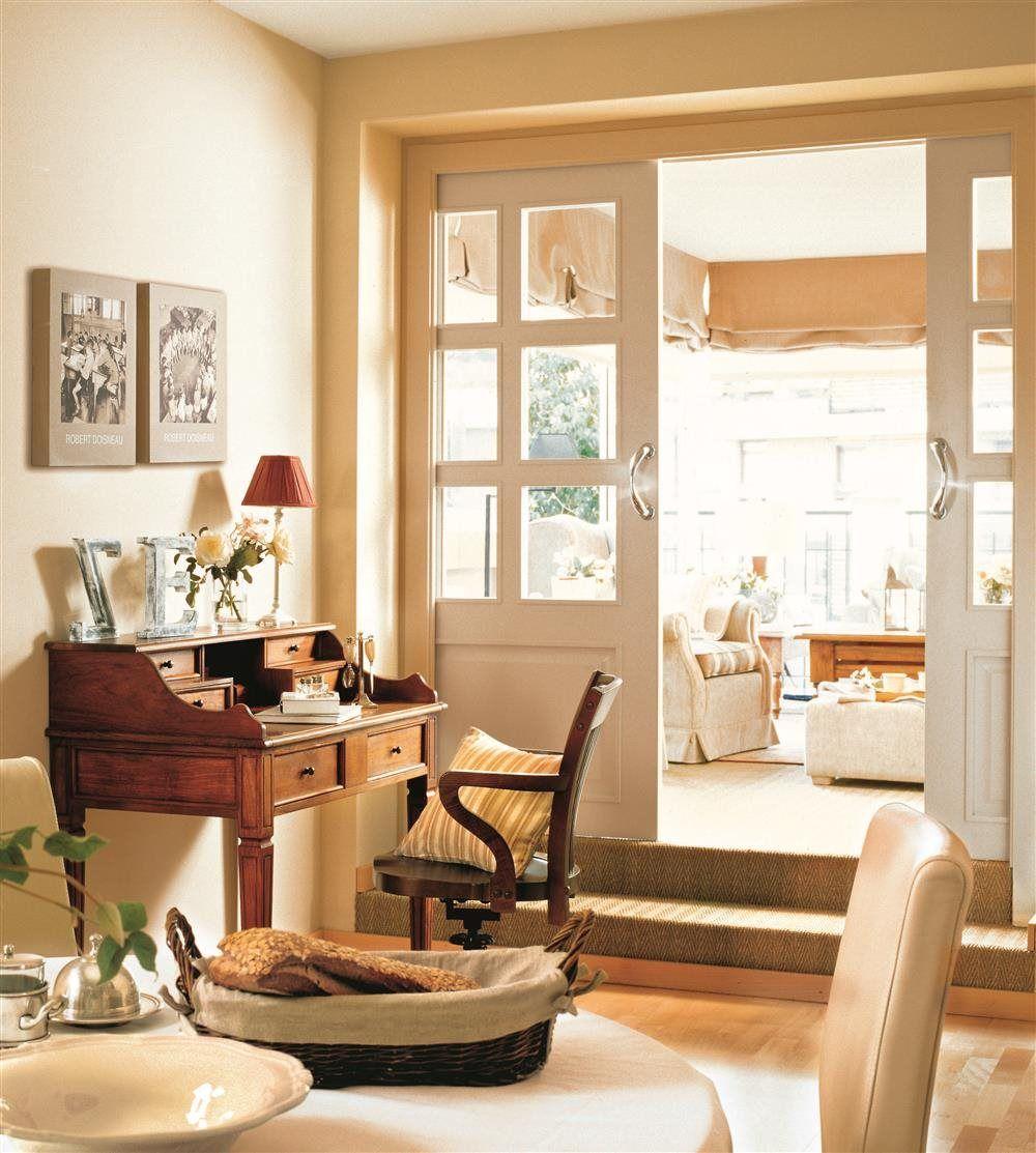 Tu piso es mini ideas para ampliarlo escuela deco living pinterest - Puertas comedor ...