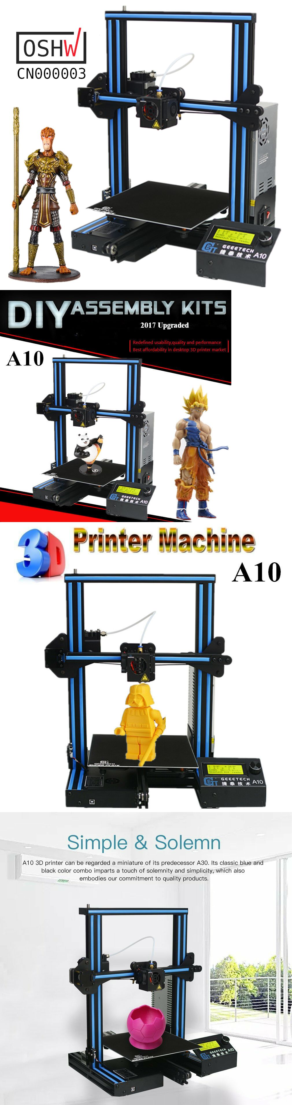 3D Printers 183063: Geeetech A10 Prusa I3 3D Printer 220*220*260Mm