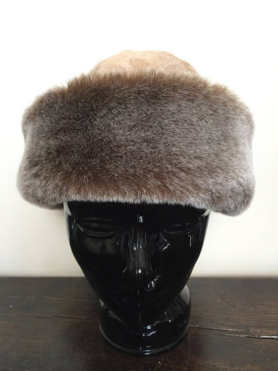 20489e3d9789ff Faux Fur Hat - Brown Fur Winter Hat - Womens Hat - Vintage Hat Women -  Russian Hat - Nordic Winter H