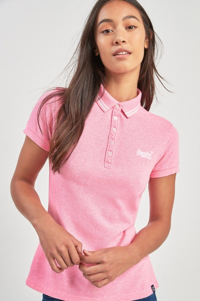 super popular best service sleek Womens Superdry Polo Top - Pink | Products in 2019 | Polo ...