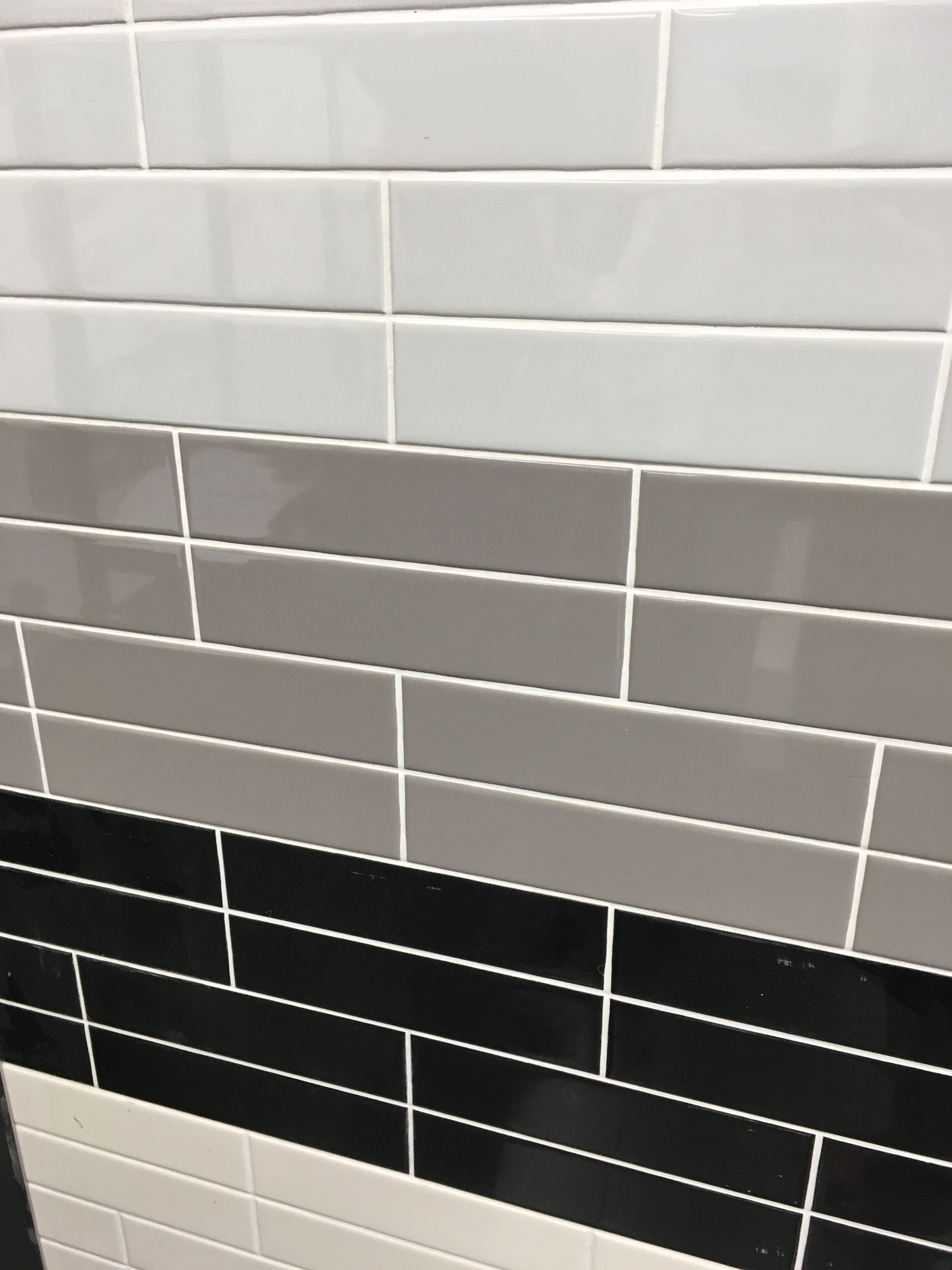 Retro Ceramic Subway Tile In Shades Of Grey, For Commercial